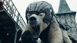 Iorek Byrnson from His Dark Materials, image from HBO/BBC