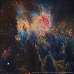 Deep space image by Francesco Antonucci for NASA