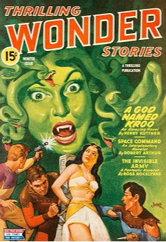 A God Named Kroo by Henry Kuttner (1944, published in Thrilling Wonder Stories, free online at Internet Archive). 2020 Retro Hugo award nominee (novella).